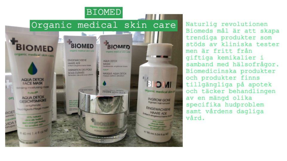 Biomed hudvård- kliniskt testade produkter upp till 100% naturliga